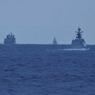 ニュース画像 2枚目:中国艦艇の航行する様子、左からフチ級「889」、ジャンカイⅡ級「546」、「576」