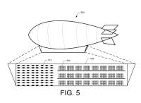 ニュース画像 1枚目:アマゾンがアメリカ特許商標庁に申請した飛行船とドローンのイメージ