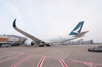 ニュース画像 1枚目:キャセイパシフィック航空のA350、画像はデュッセルドルフ