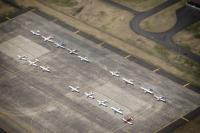 ニュース画像 1枚目:関東航空機空中衝突防止対策会議のため横田基地に飛来した民間機26機