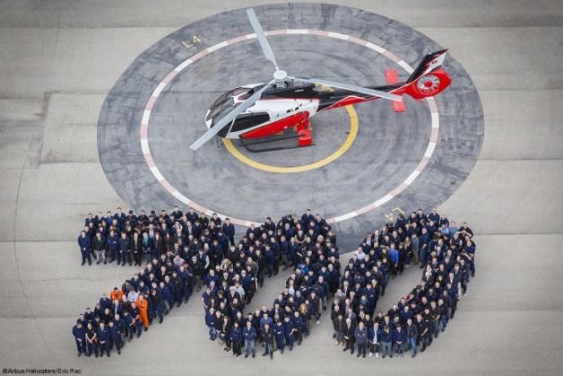 ニュース画像 1枚目:H130、700機目のロールアウト