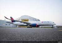 ニュース画像 1枚目:デルタ航空の塗装が施されたA350-900