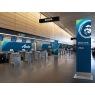 ニュース画像 5枚目:ロゴ変更された空港カウンター