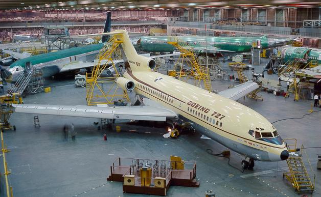 ニュース画像 1枚目:レントン工場で製造された727初号機