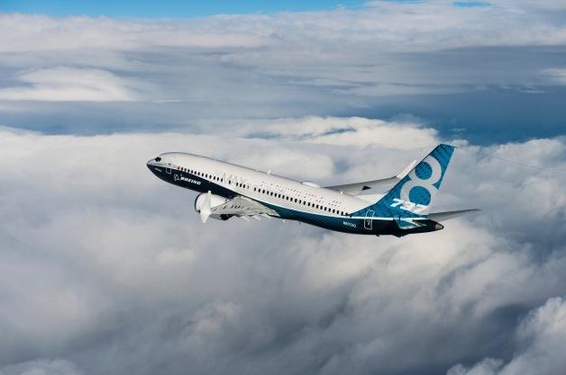 ニュース画像 1枚目:テスト飛行する737 MAX 初号機「N8701Q」