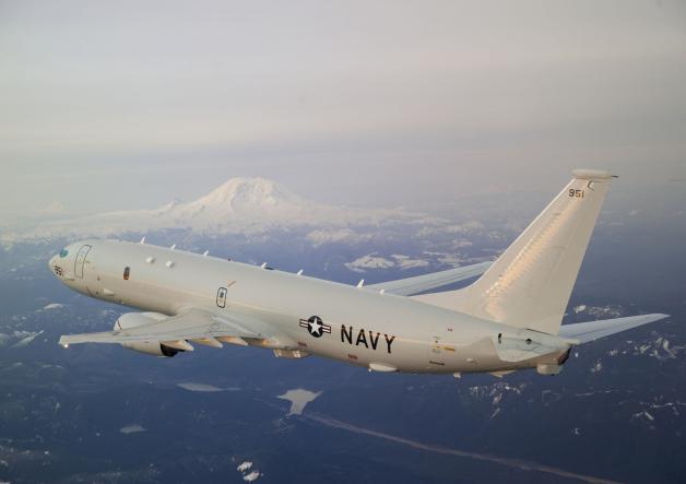 ニュース画像 1枚目:P-8Aポセイドン、翼端にはウイングレットではなくレイクド・ウイングチップを装備している