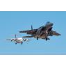 ニュース画像 2枚目:アイダホ州ボイシでF-15Eとパラレル・アプローチするネプチューンのBAe146