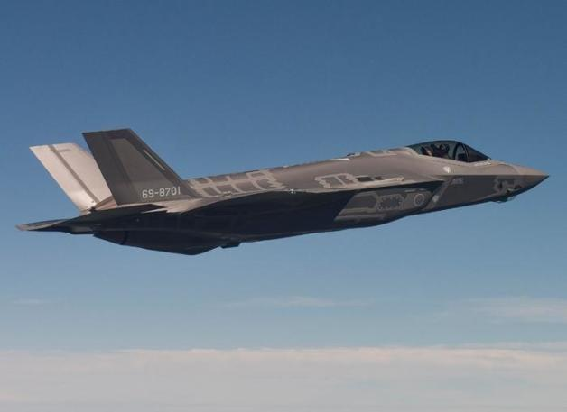 ニュース画像 1枚目:初飛行した空自F-35A 「69-8701」