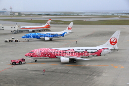 ちぃこさんが、那覇空港で撮影した日本トランスオーシャン航空 737-446の航空フォト(写真)