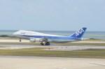 もんきぃさんが、那覇空港で撮影した全日空 747-481(D)の航空フォト(写真)