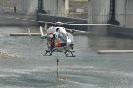 桐生市渡良瀬川堤防上よりで撮影された桐生市渡良瀬川堤防上よりの航空機写真