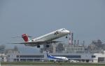 ぬるりんさんが、松山空港で撮影した日本航空 MD-87 (DC-9-87)の航空フォト(写真)