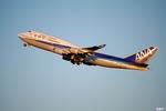 妄想竹さんが、羽田空港で撮影した全日空 747-481の航空フォト(写真)