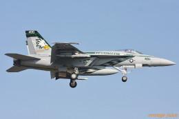 orange juiceさんが、厚木飛行場で撮影したアメリカ海軍 F/A-18E Super Hornetの航空フォト(写真)