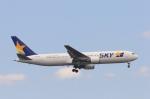安芸あすかさんが、羽田空港で撮影したスカイマーク 767-3Q8/ERの航空フォト(写真)