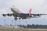 安芸あすかさんが、下地島空港で撮影した日本航空 747-346の航空フォト(写真)