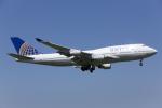 HND Spotter Rei U.さんが、成田国際空港で撮影したユナイテッド航空 747-422の航空フォト(写真)