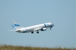 バーバ父さんが、パリ シャルル・ド・ゴール国際空港で撮影したエンターエア 737-8Q8の航空フォト(写真)