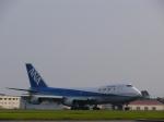ほっぴー黒柴さんが、鹿児島空港で撮影した全日空 747SR-81の航空フォト(写真)