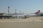 furaibo123さんが、サンパウロ・グアルーリョス国際空港で撮影したスイスインターナショナルエアラインズ A340-313Xの航空フォト(写真)