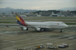 pringlesさんが、福岡空港で撮影したアシアナ航空 747-48Eの航空フォト(写真)