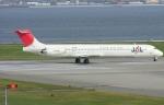 なぁちゃんさんが、関西国際空港で撮影した日本航空 MD-81 (DC-9-81)の航空フォト(写真)