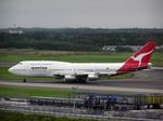 たぁさんが、成田国際空港で撮影したカンタス航空 747-338の航空フォト(写真)
