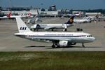 Gambardierさんが、デュッセルドルフ国際空港で撮影したスカンジナビア航空 A319-132の航空フォト(写真)
