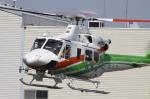 多楽さんが、群馬ヘリポートで撮影した群馬県防災航空隊 412EPの航空フォト(写真)