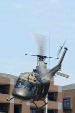 カンクンさんが、福岡駐屯地で撮影した陸上自衛隊 UH-1Jの航空フォト(写真)