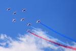 gomaさんが、ル・ブールジェ空港で撮影したPatrouille de France Alpha Jetの航空フォト(写真)