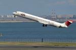 うさぎぱぱさんが、羽田空港で撮影した日本航空 MD-90-30の航空フォト(写真)