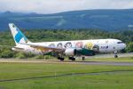 サビ丸さんが、中標津空港で撮影した全日空 767-381の航空フォト(写真)