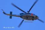 サイパンダマルコスさんが、岐阜県防災航空センターで撮影した岐阜県警察 412EPの航空フォト(写真)