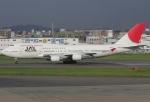 なぁちゃんさんが、福岡空港で撮影した日本航空 747-446の航空フォト(写真)