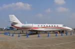 へりさんが、名古屋飛行場で撮影した朝日航洋 680 Citation Sovereignの航空フォト(写真)