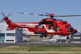 へりさんが、東京ヘリポートで撮影した東京消防庁航空隊 EC225LP Super Puma Mk2+の航空フォト(写真)