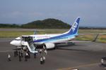 しかばねさんが、大島空港で撮影した全日空 737-781の航空フォト(写真)