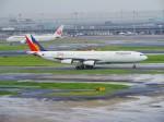 いもつさんが、羽田空港で撮影したフィリピン航空 A340-313Xの航空フォト(写真)