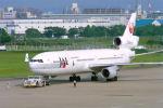 はるさんが、福岡空港で撮影した日本航空 MD-11の航空フォト(写真)