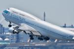 とりてつさんが、羽田空港で撮影したキャセイパシフィック航空 747-412の航空フォト(写真)