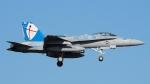ほーねっともきさんが、厚木飛行場で撮影したアメリカ海兵隊 F/A-18C Hornetの航空フォト(写真)