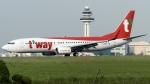 coolinsjpさんが、金浦国際空港で撮影したティーウェイ航空 737-8ASの航空フォト(写真)