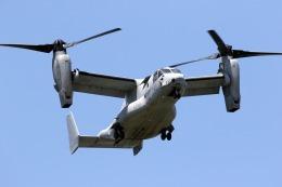 出戻りさんが、厚木飛行場で撮影したアメリカ海兵隊 MV-22Bの航空フォト(写真)