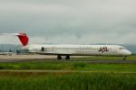フリューゲルさんが、仙台空港で撮影した日本航空 MD-81 (DC-9-81)の航空フォト(写真)