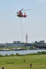 500さんが、江戸川区篠崎町 江戸川河川敷で撮影した東京消防庁航空隊 AS365N3 Dauphin 2の航空フォト(写真)