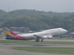 今ちゃんさんが、福岡空港で撮影したアシアナ航空 747-48EMの航空フォト(写真)