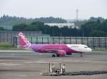 よんすけさんが、成田国際空港で撮影したピーチ A320-214の航空フォト(写真)