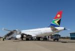 なごやんさんが、リビングストン空港で撮影した南アフリカ航空 A319-131の航空フォト(写真)