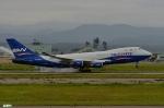 妄想竹さんが、小松空港で撮影したシルク・ウェイ・エアラインズ 747-4R7F/SCDの航空フォト(写真)